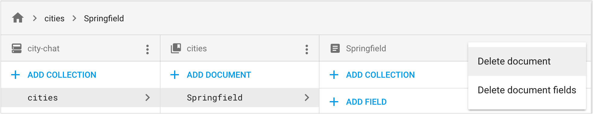 Klik Hapus dokumen atau Hapus kolom dokumen dari menu konteks di kolom rincian dokumen