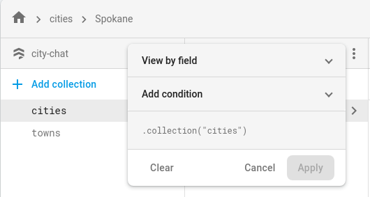 Click the Filter list button to filter                                        the documents listed.