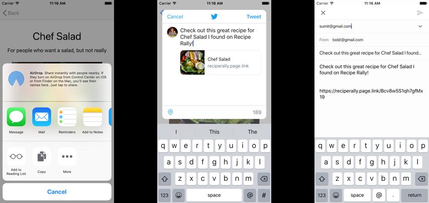 Partage sur iOS