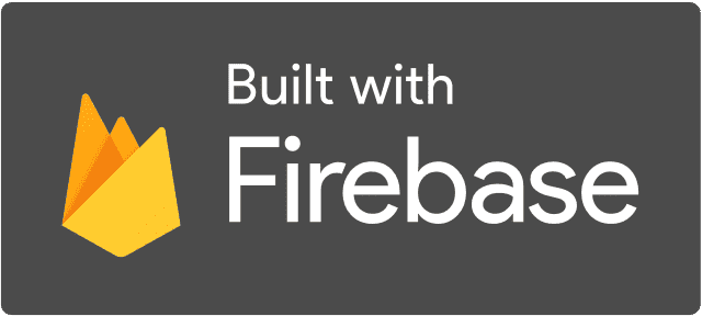 Built with Firebase Dark logo