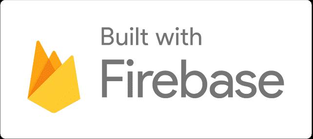 Construit avec le logo Firebase Light