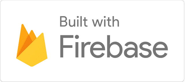 「Built with Firebase」ロゴ(ライト)