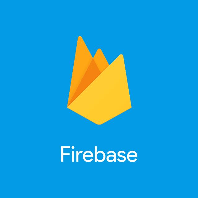 縦配置の Firebase ロックアップ ロゴ