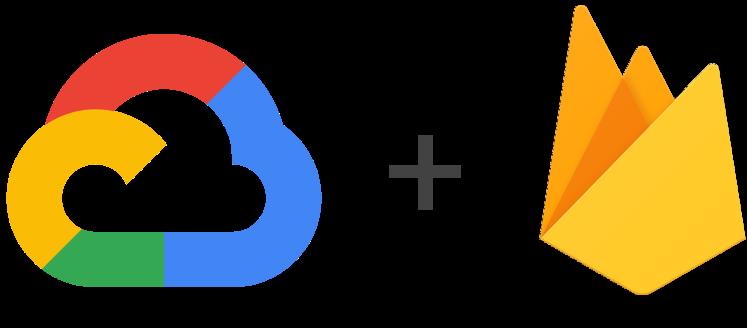 סמלי לוגו של Google Cloud Platform ו- Firebase