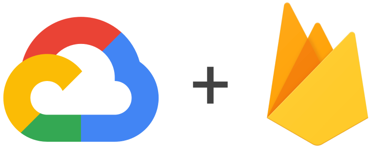 Google Cloud Platform i Firebase loga