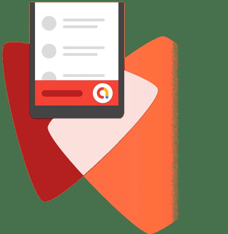 Admob illustration on mobile phone