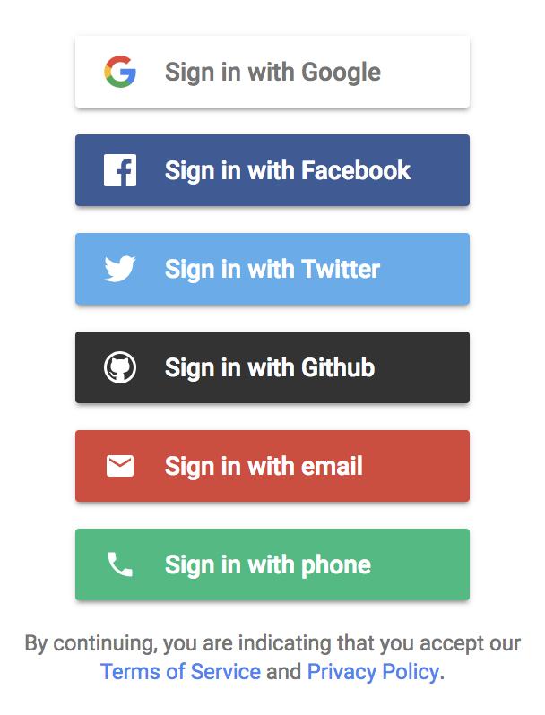 Drop-in responsive authentication flow