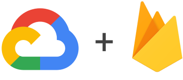 Logotipos do Google Cloud e do Firebase