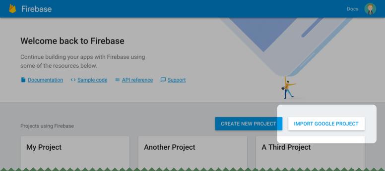 Firebase を Google Developer プロジェクトへ追加