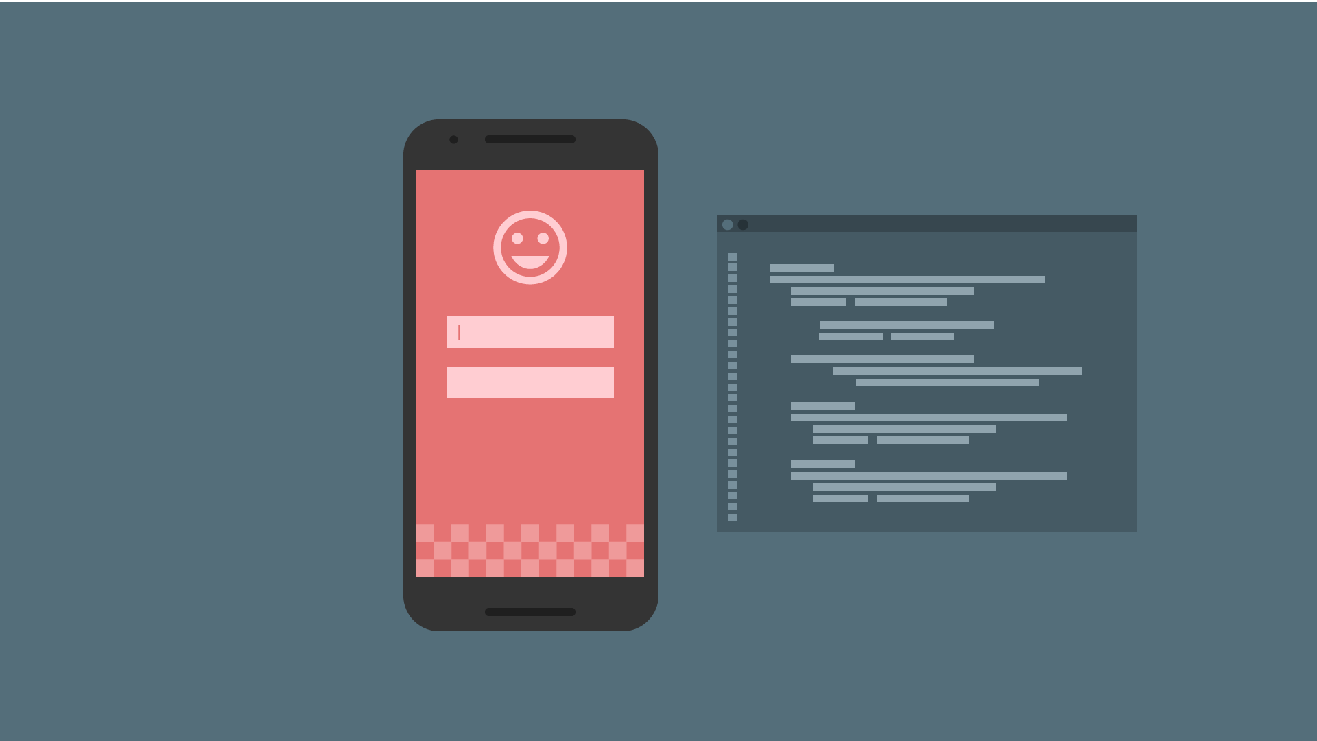 Illustration of mobile device
