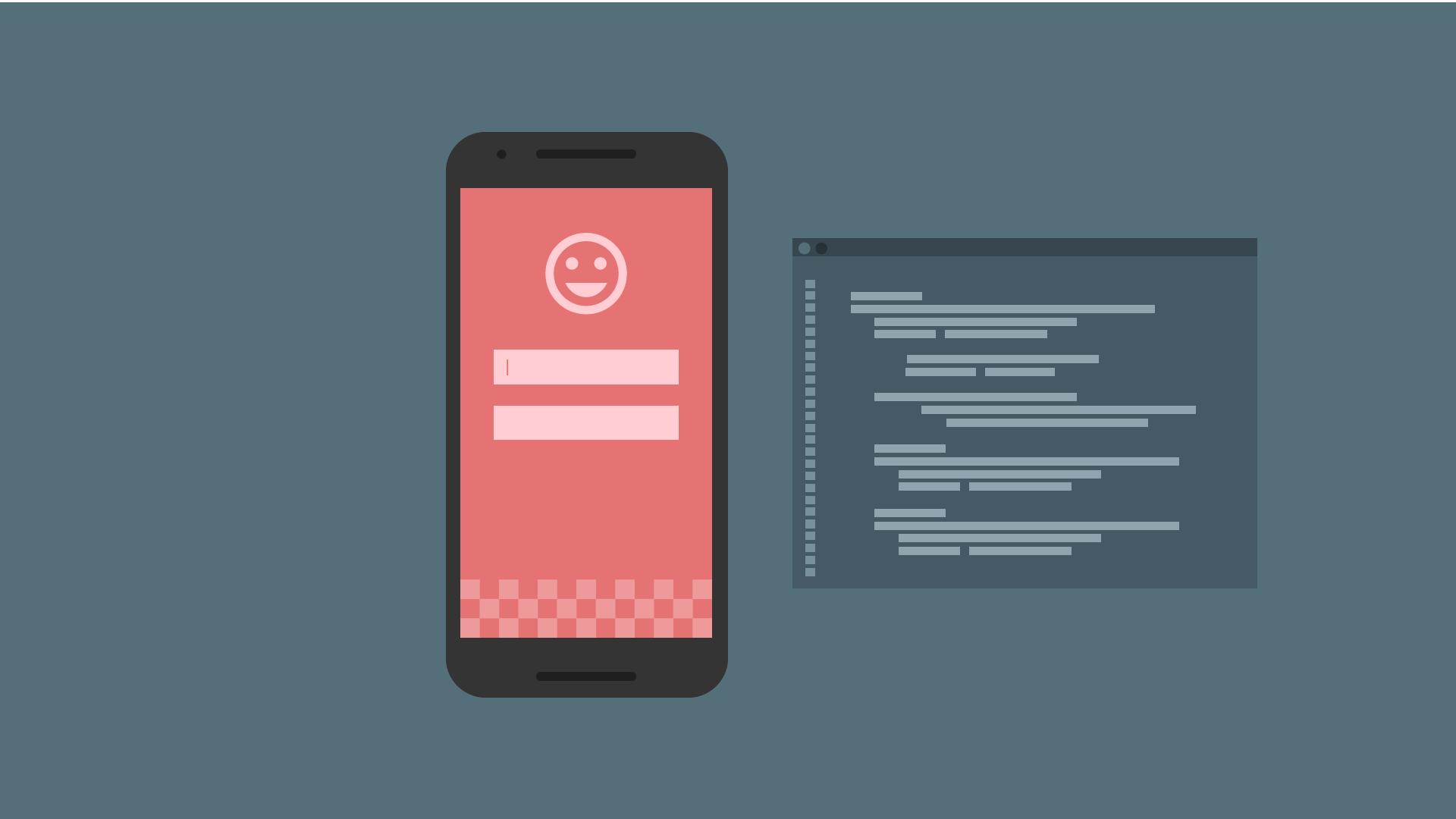 Illustration of mobile device