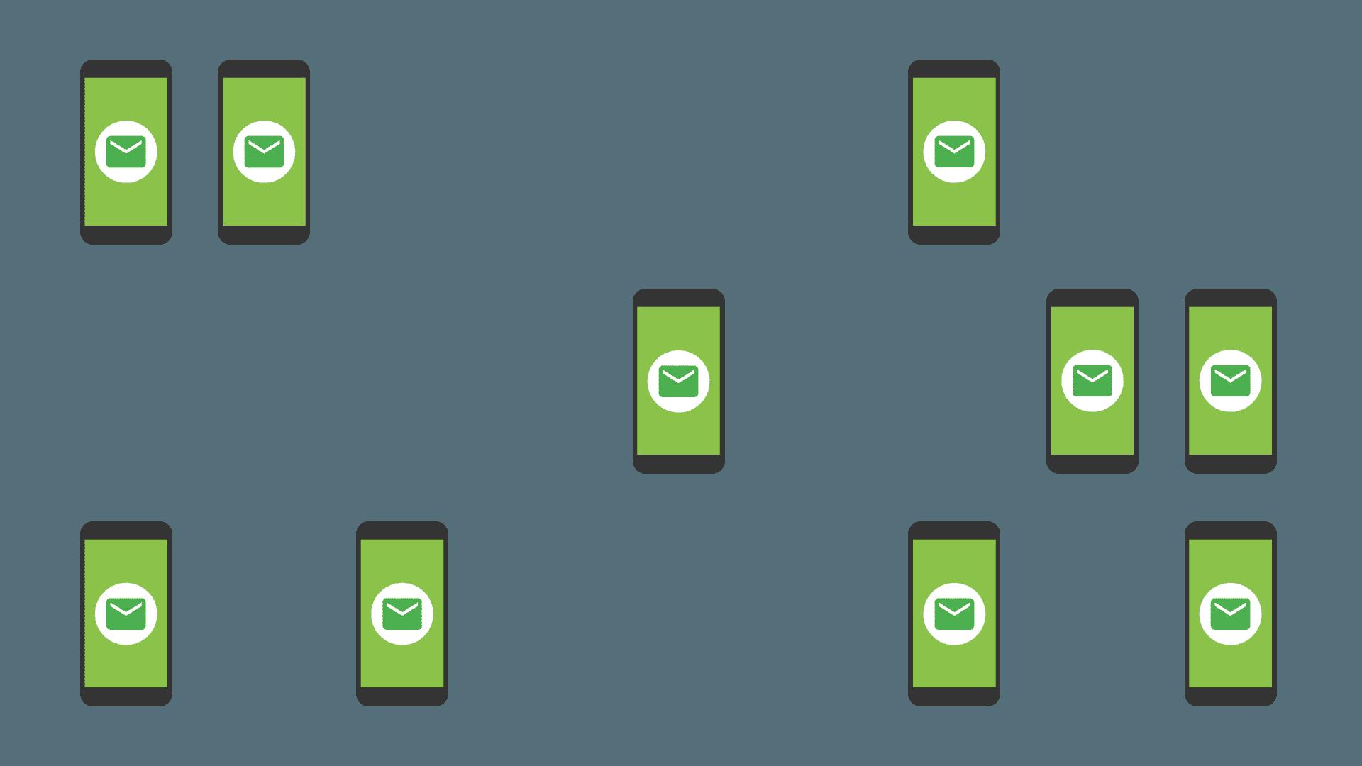 Ilustração da segmentação avançada de mensagens