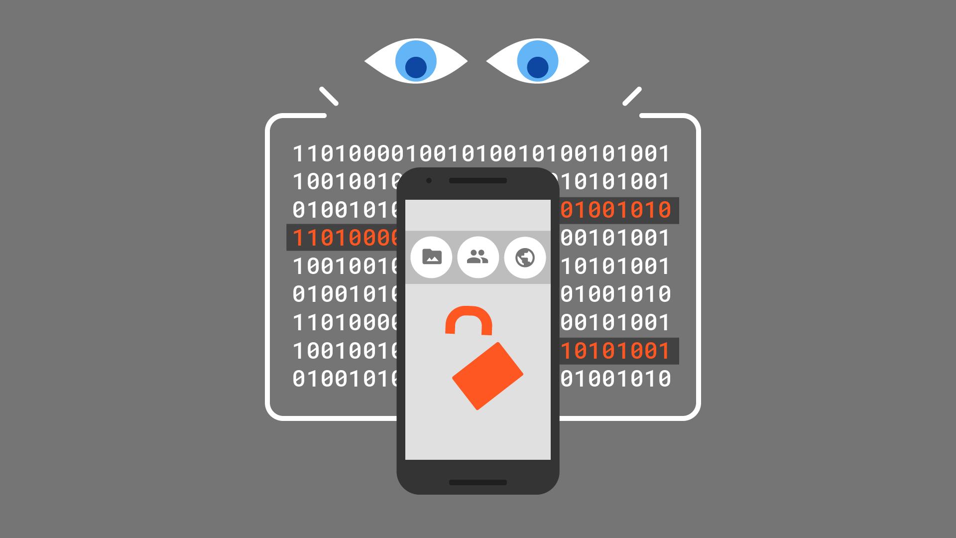 Ilustração da segurança móvel