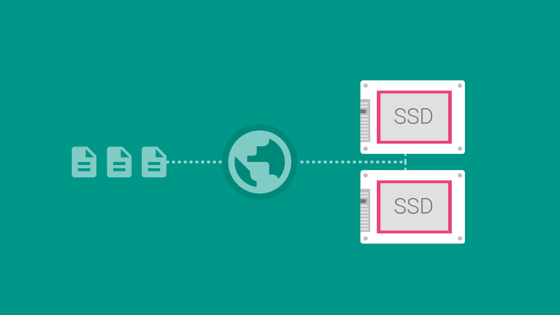 Ilustrasi diagram hosting SSD
