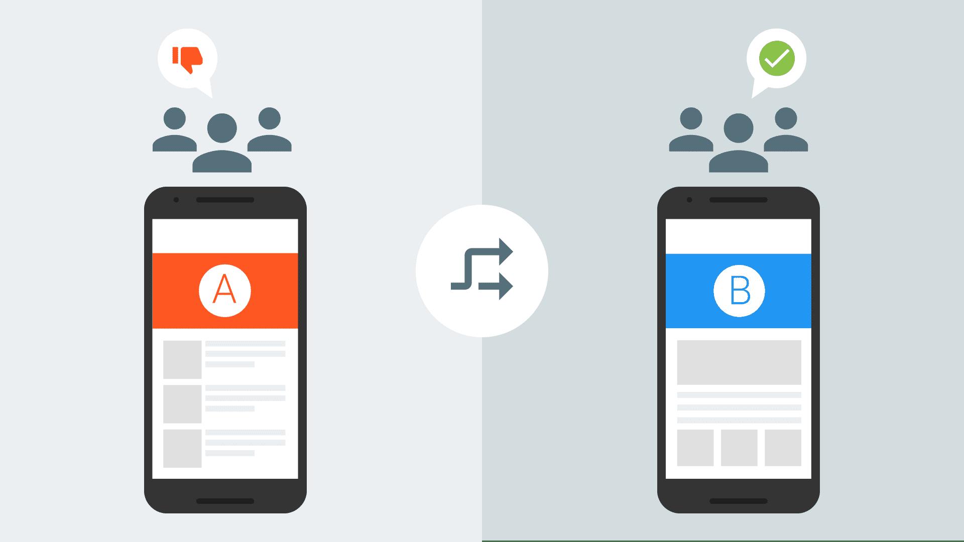 ユーザーによって異なる内容が表示されているスマートフォン
